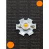 N/A 1W Power LED naracssárga 110 Lumen 595-600nm hűtőcsillagon