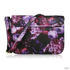 Cross Miss Lulu London L1402F - Miss Lulu kicsi Cross Body táska virágos lila