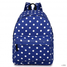 Miss Lulu London E1401D2 - Miss Lulu nagyméretű hátizsák táska Polka Dot Navy