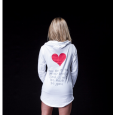 Fitdress Hoodie Heart White