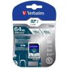 Verbatim Memóriakártya, SDXC, 64GB, Class 10 UHS-I, 90/45MB/sec, VERBATIM PRO (MVS64GP)