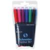 "SCHNEIDER Tűfilc készlet, 0,4 mm, SCHNEIDER ""Topliner 967"", 6 különböző szín"