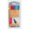 """STABILO Tűfilc készlet, 0,4 mm, STABILO """"Point 88"""", 10 különböző szín"""