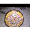 Egyedi kézműves, üveglencsés mandala gyűrű