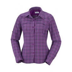 Columbia 1443221 Silver Ridge Plaid LS Shirt Ing,blúz D (AL7077-n_530-Bright Plum)