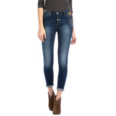 Desigual Denim Golden Flower Utcai nadrág D (58d26d3-n_5008-Denim Dark Blue)