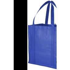 Bevásárlótáska, nem szőtt, kék (Bevásárlótáska, nem szőtt, 80 g/m2 nemszőtt anyagból.)