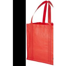 Bevásárlótáska, nemszőtt, piros (Bevásárlótáska, nem szőtt, 80 g/m2 nemszőtt anyagból.)