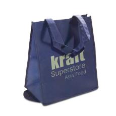 Összehajtható szintetikus bevásárlótáska, kék (Összehajtható szintetikus bevásárlótáska, 80 g/m2.)