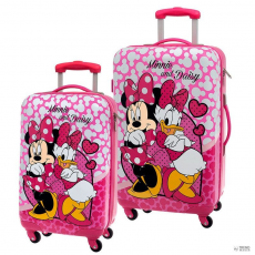 Next Door Universal Set 2 táska bőrönds trolley ABS Minnie Daisy Disney 4r 55/67cm gyerek