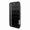 Piel Frama iPhone 6/6S Framaslim Swarowski eredeti krokodilbőr tok, fekete