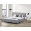 Beliani Világosszürke ágy - 180x200 cm - Kárpitozott ágy – SAVERNE