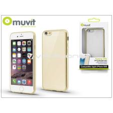 Apple Apple iPhone 6/6S hátlap - Muvit Frame TPU - clear/gold tok és táska