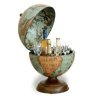 Zoffoli Bárföldgömb barna asztali Alfeo Laguna (a gömb teteje oldalra nyitható) kékes