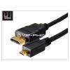 LED LED Sound micro HDMI - HDMI 1.4 3D aranyozott kábel 150 cm-es vezetékkel - fekete
