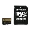 Verbatim Memóriakártya, microSDXC, 64GB, Class 10 UHS I, adapterrel, VERBATIM