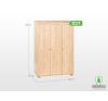Möbelstar 3 ajtós szekrény 195x55 cm ágy és ágykellék