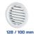 VENTS fehér szellőzőrács, bútorrács rovarhálós (128/100 mm)