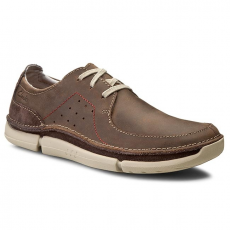 Clarks Félcipő CLARKS - Trikeyon Fly 261152017 Brown Leather