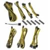 Bitfénix BitFenix Alchemy 2.0 PSU kábelkészlet, BQT széria SP10 - fekete/sárga
