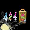 Szám gyertya színes 0-199 éves korig (5-ös)