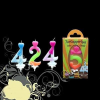 Szám gyertya színes 0-199 éves korig (8-as)