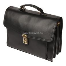 ABSOLUTE Leather Állítható csatos három részes bőr aktatáska SKD09