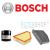 Bosch Audi A3 1.8 TFSi (179 LE) BOSCH szűrőszett + Castrol Edge 5W30 5 L