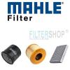 Mahle Audi A3 1.4 TFSi szűrőszett MAHLE Filter + Castrol Edge 5w30 4 Liter