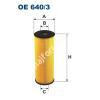 Filtron OE640/3 Filron olajszűrő