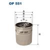 Filtron OP551 Filron olajszűrő