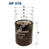 Filtron OP578 Filron olajszűrő