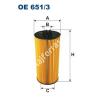 Filtron OE651/3 Filron olajszűrő