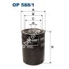 Filtron OP588/1 Filron olajszűrő