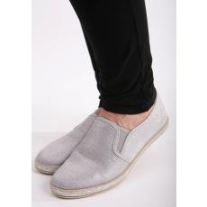 Impresszió Szürke lapos vászoncipő