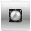 Vents Hungary Vents 100 Atoll Titan TH Modern Formatervezésű Inox Előlapos Ventilátor Páraérzékelővel és Időkapcsolóval