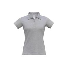 B&C B&C Safran Női pamut piké póló, heather grey