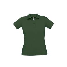 B&C B&C Safran Női pamut piké póló, sötétzöld