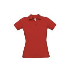 B&C B&C Safran Női pamut piké póló, piros