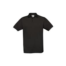B&C B&C Safran piké pamut póló, fekete