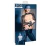 ZADO - csipke-bőr boleró (fekete) (XL) bőr, lakk, latex eszköz