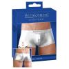 Selymes fényű boxeralsó - ezüst (XL)