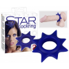 Blue Star - szilikon péniszgyűrű (kék)