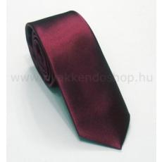 Szatén slim nyakkendõ - Bordó