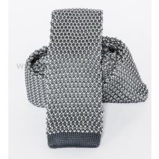 Prémium kötött nyakkendõ - Szürke-fehér
