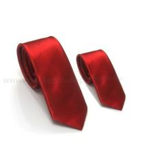 Szatén apa-fia nyakkendõ szett - Piros