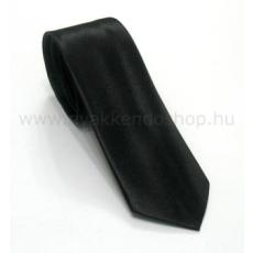 Szatén slim nyakkendõ - Fekete