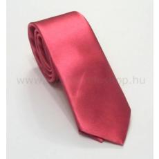 Szatén slim nyakkendõ - Rózsaszín