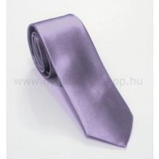 Szatén slim nyakkendõ - Orgonalila