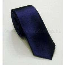 Szatén slim nyakkendõ - Sötétkék